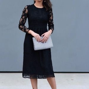 Zara Black Lace dress with Paisley sleeves